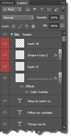 Selected Layers
