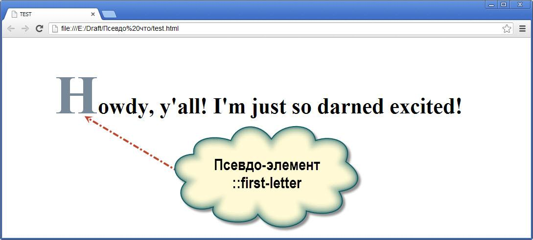 Псевдо-элемент ::first-letter