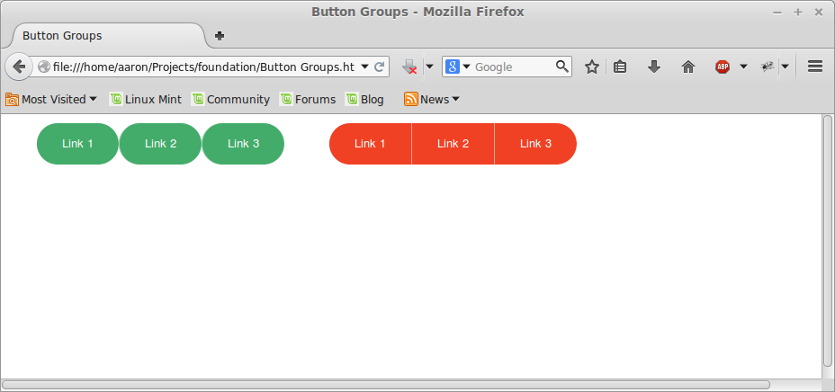 Button bar на Foundation