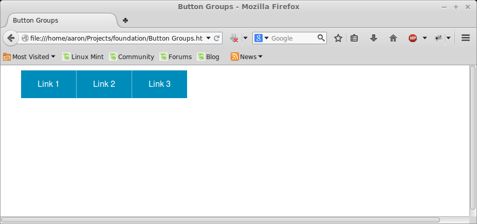 Button group на Foundation