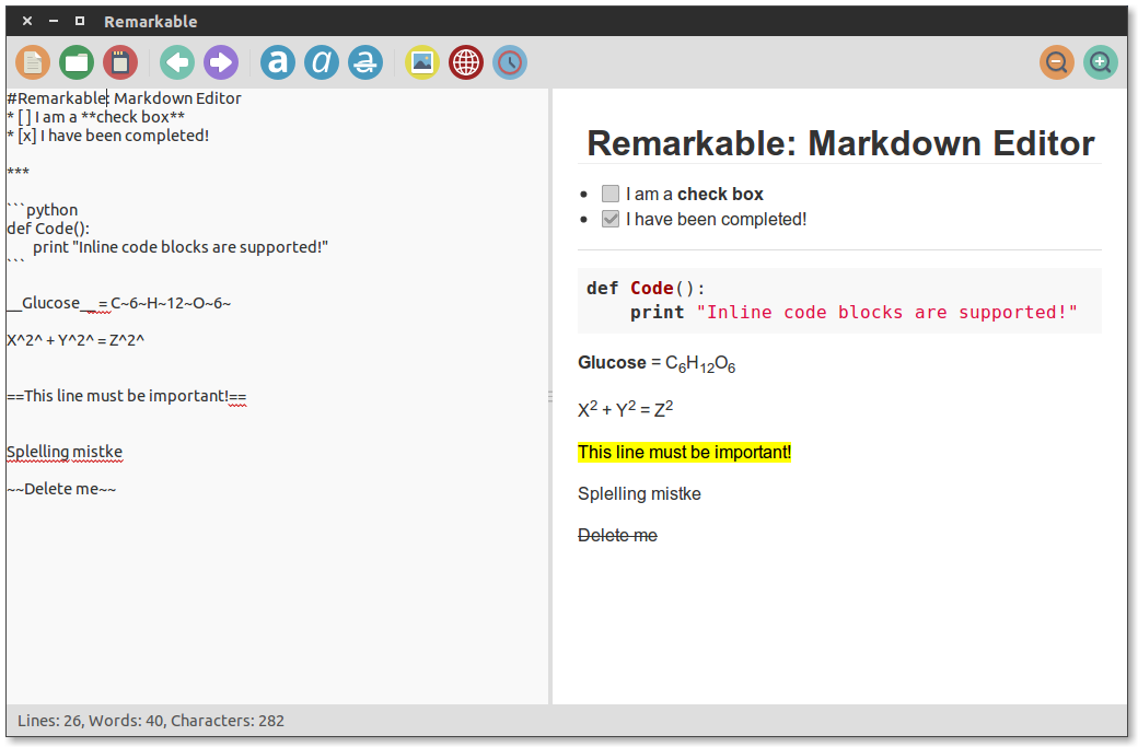 Markdown Support